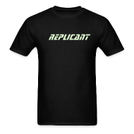 T-Shirts ~ Men's T-Shirt ~ REPLICANT T-SHIRT - Glow-in-the-dark Blade Runner Ultimate Edition