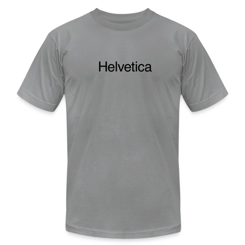 Helvetica American Apparel - Men's T-Shirt by American Apparel