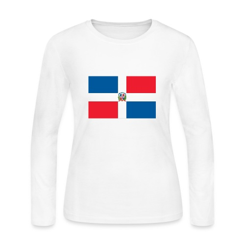 Women's Long Sleeve Jersey T-Shirt - Custom contoured, with added stretch to fit the body. 5/8 set in cover stitched 3/4 sleeve and bottom baby hem. Perfect for layering during any season.