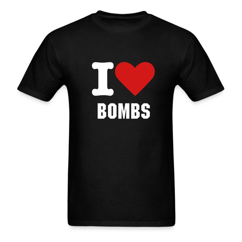 I (Heart) Bombs... - Men's T-Shirt