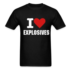I (Heart) Explosives... - Men's T-Shirt