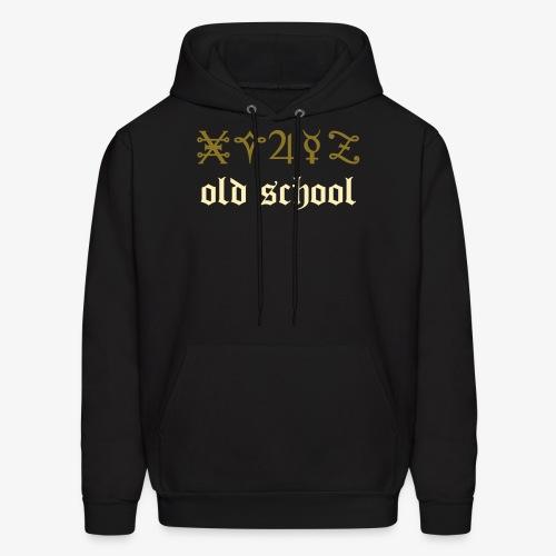 YellowIbis.com 'Chemistry One Liners' Men's / Unisex Hooded Longsleeved Sweatshirt: Old School (Black) - Men's Hoodie