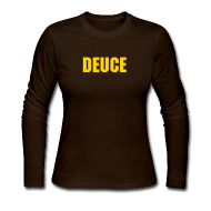 Long Sleeve Shirts ~ Women's Long Sleeve Jersey T-Shirt ~ Deuce Logo Ladies Long Sleeve