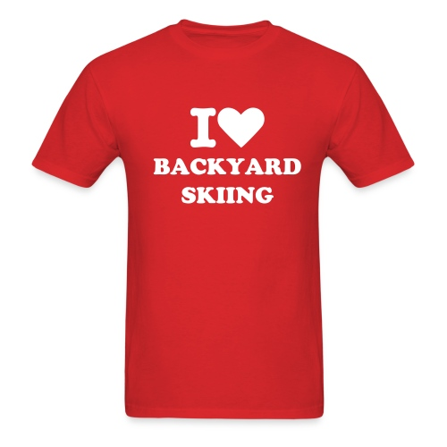 i love backyard skiing - Men's T-Shirt