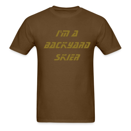 i'm a backyard skier - Men's T-Shirt