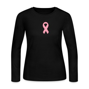 **Pink Ribbon (Breast Cancer Awareness) - Women's Long Sleeve Jersey T-Shirt