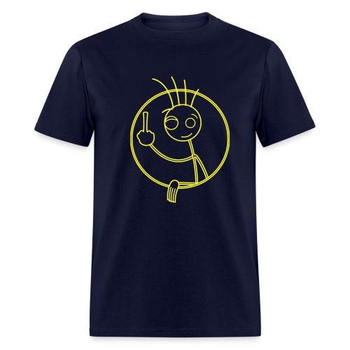 middle finger guy - Men's T-Shirt