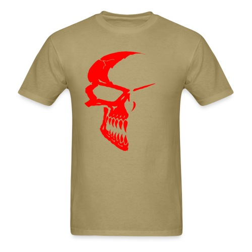 SKULL RED/KHAKI - Men's T-Shirt