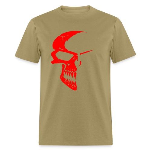 SKULL RED/KHAKI - Men's T-Shirt