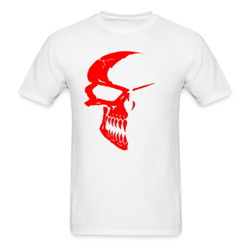 SKULL RED/WHITE - Men's T-Shirt