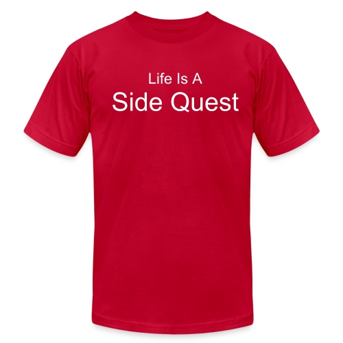 Life is a side quest - clean - Men's Fine Jersey T-Shirt
