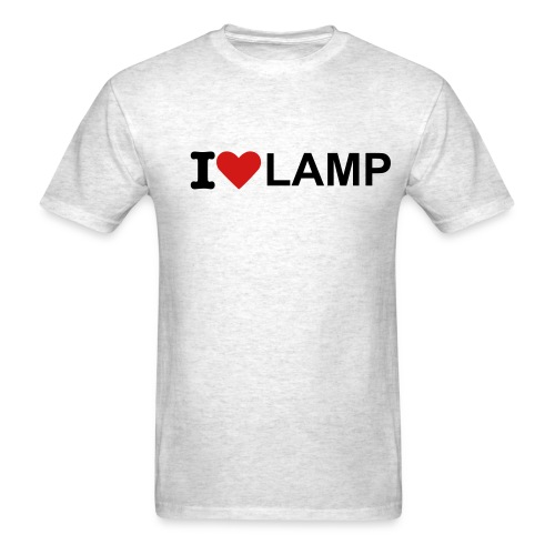 I HEART LAMP - Men's T-Shirt