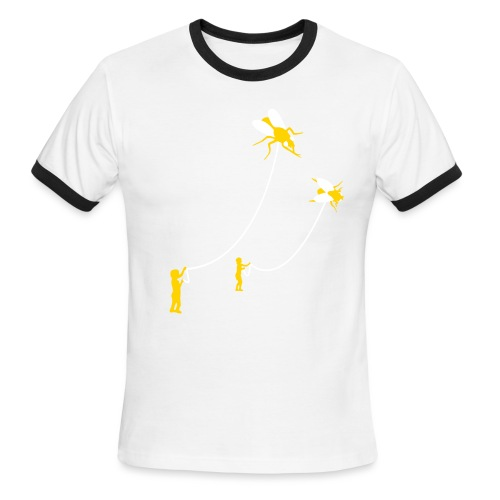[flies] - Men's Ringer T-Shirt