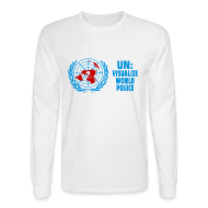 Long Sleeve Shirts ~ Men's Long Sleeve T-Shirt ~ UN: Visualize World Peace