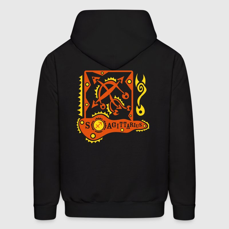Black Sagittarius-Rifleman-Zodiac-Sign Sweatshirt - Men's Hoodie