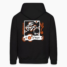 Black Taurus-Bull-Zodiac-Sign Sweatshirt