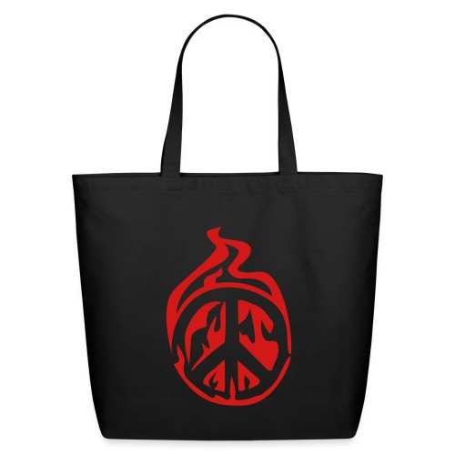 peace sign bag  - Eco-Friendly Cotton Tote