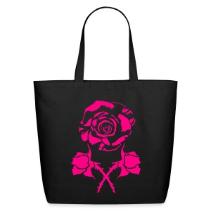 rose and cross bud - Eco-Friendly Cotton Tote