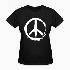 Black Painted Peace Symbol Women