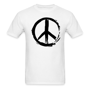 White Painted Peace Symbol Men