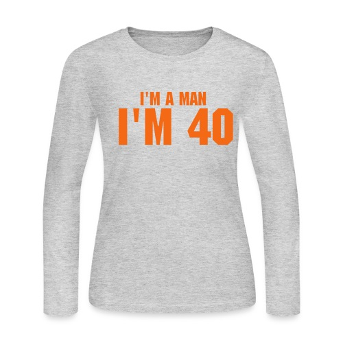I'm 40 - Women's Long Sleeve Jersey T-Shirt