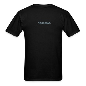 Back of shirt: Tallyhead. - Men's T-Shirt