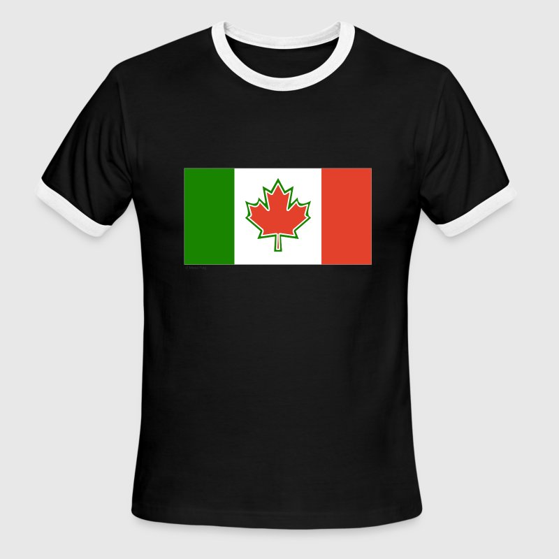 White/red canada italy T-Shirts - Men's Ringer T-Shirt