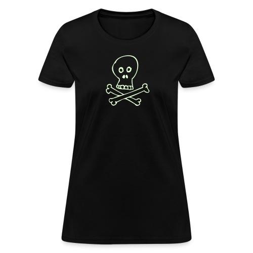 Glow Skull - Women's Lightweight - Women's T-Shirt