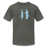 T-Shirts ~ Men's T-Shirt by American Apparel ~ [handshake]