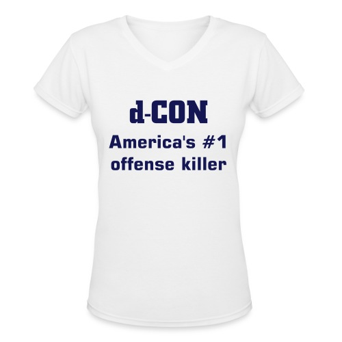d-Con Ladies Vneck - Women's V-Neck T-Shirt