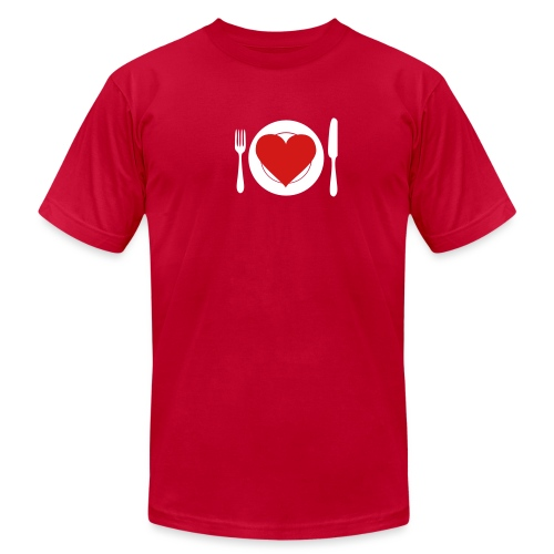 [heartmeal] - Men's T-Shirt by American Apparel