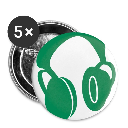 Headset Buttons - Green - Large Buttons