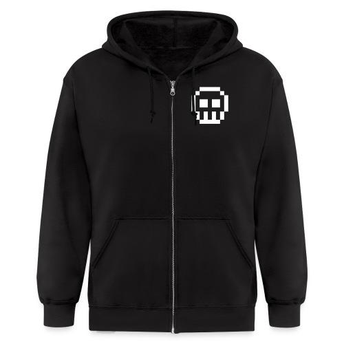 8-bit Skull - Men's Zip Hoodie