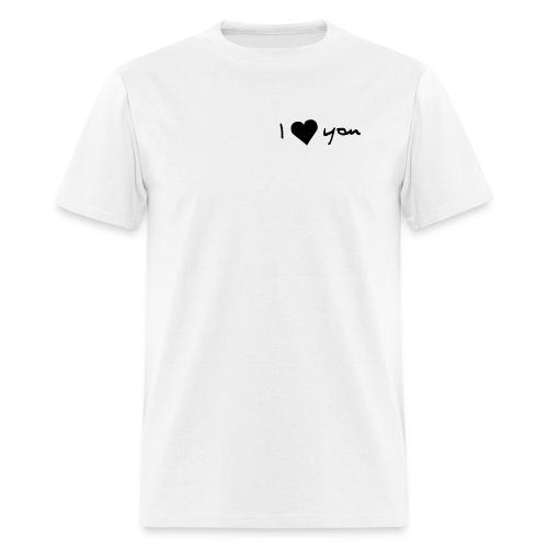 I LOVE YOU - Men's T-Shirt