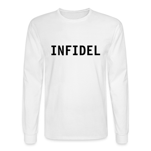 infidel white long sleeve - Men's Long Sleeve T-Shirt