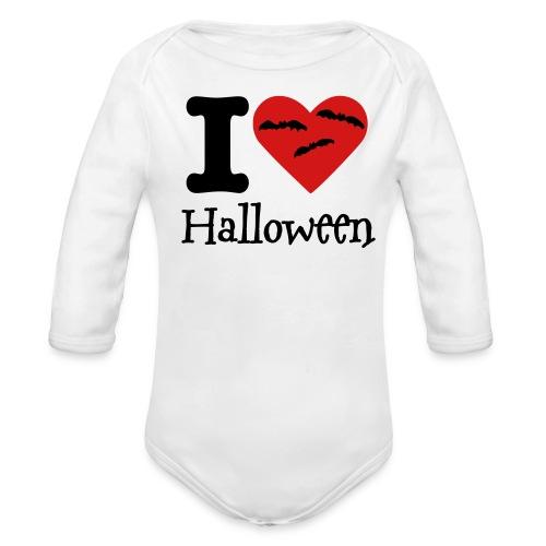 I Heart Halloween Baby Onsie - Organic Long Sleeve Baby Bodysuit