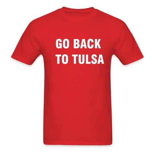 Back to Tulsa - Men's T-Shirt