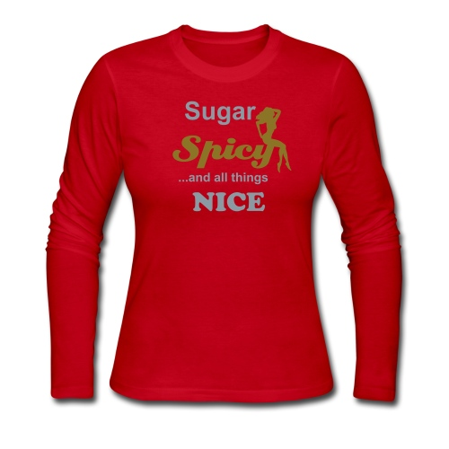 Sugar & Spicy (silver/gold) - Women's Long Sleeve Jersey T-Shirt