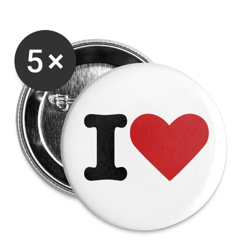 I Love... - Buttons small 1'' (5-pack)