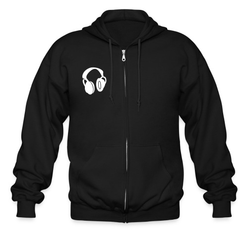 DAN DESIGN HOOD - HEADPHONES - Men's Zip Hoodie