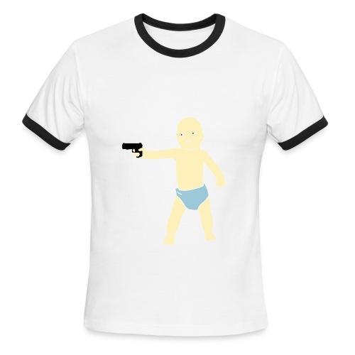 Cohort's Baby Gun Retro Tee - Men's Ringer T-Shirt
