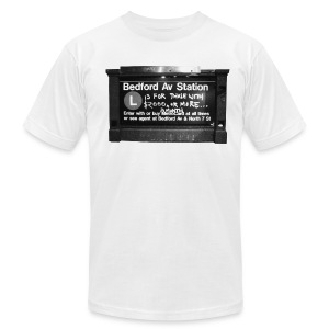Bedford Ave. Station - Men's T-Shirt by American Apparel