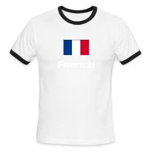 French and proud - T-shirt à bords contrastants pour hommes American Apparel