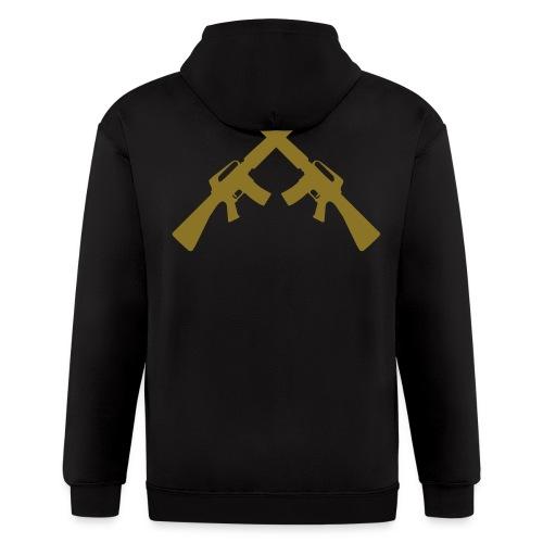 Crossed Guns - Men's Zip Hoodie
