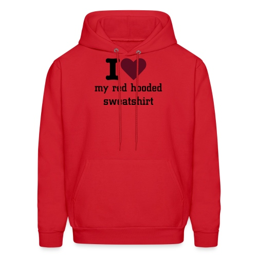 I heart Red hooded sweatshirt - Men's Hoodie