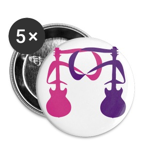 2 Guitars (Neon Pink and Purple) 2 - Large Buttons