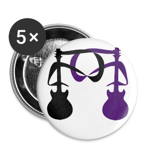 2 Guitars (BLK and Purple) 2 - Large Buttons