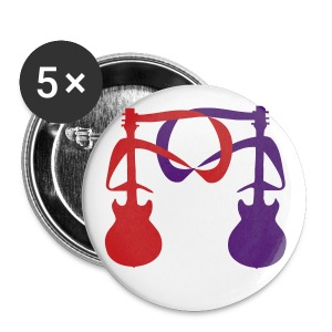 2 Guitars (Red and Purple) 2 - Large Buttons