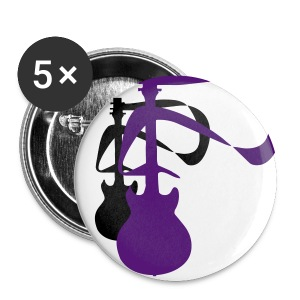 2 Guitars (BLK and Purple) 3 - Large Buttons