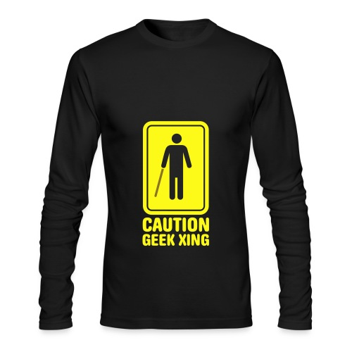 Caution: Geek Xing - Men's Long Sleeve T-Shirt by Next Level